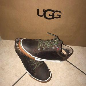 Men's UGG BROCK LUXE Grizzly brown sneakers #10